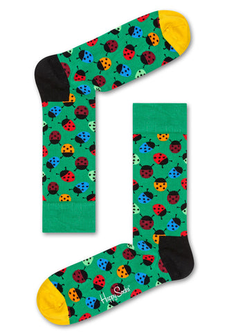 Happy Socks Green Ladybug Socks for Men