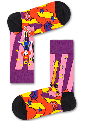 Linda and Johnny Purple Guitar Socks
