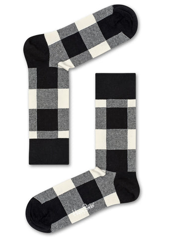 Happy Socks Lumberjack Socks in Black/White