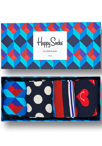 Happy Socks Nautical Men's Sock 4PK Gift Set