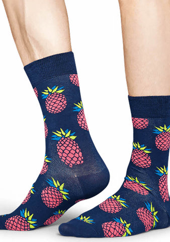 Happy Socks Pineapple Socks in Pink/Blue
