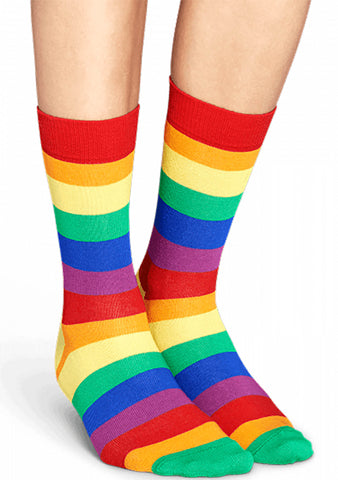 Pride Striped Rainbow Socks