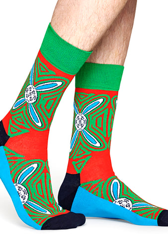 X Macaulay Culkin Christmas Psychedelic Rabbit Sock