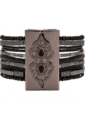 HIPANEMA Santa Fe Bracelet in Black