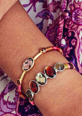HIPANEMA Valmy Bangle in Gold/Pink