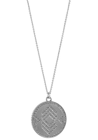 House of Harlow 1960 Reversible Coin Necklace in Silver