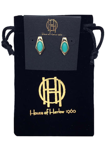 House of Harlow 1960 Valda Stud Earrings in Amazonite