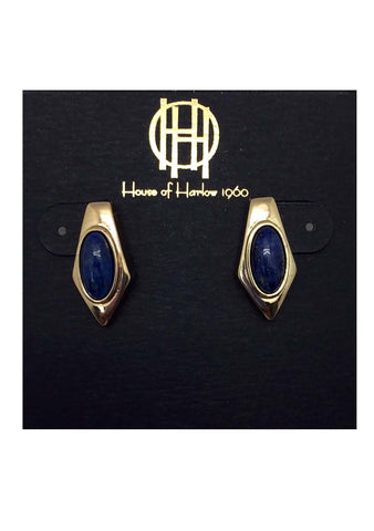 House of Harlow 1960 Valda Stud Earrings in Lapis