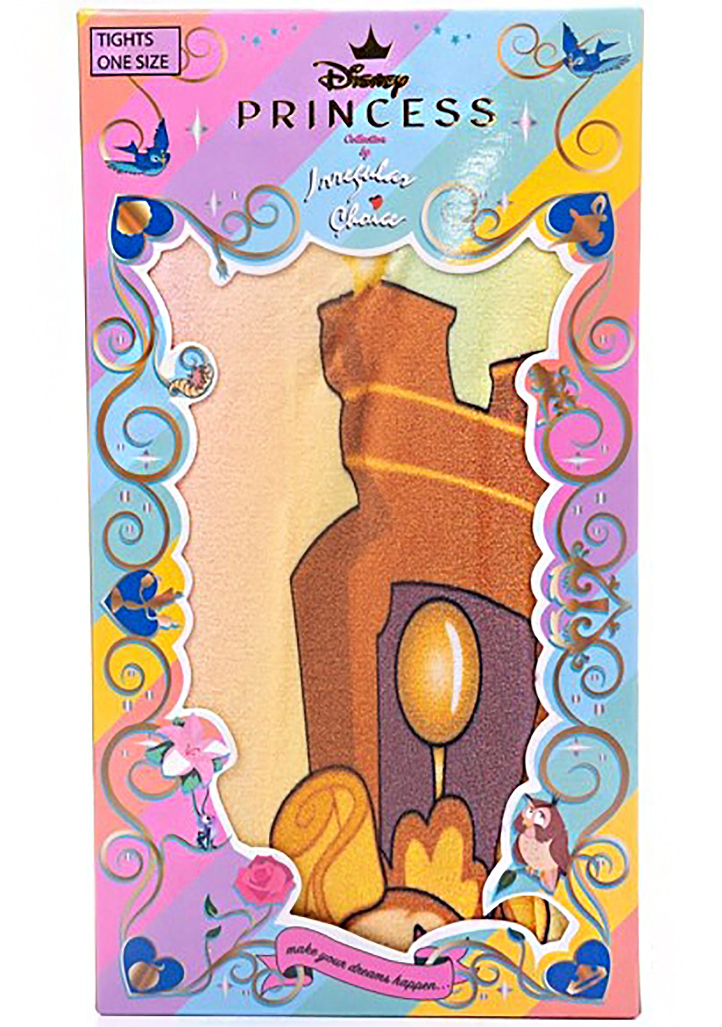 X Disney Beauty and the Beast Be our Guest Tights