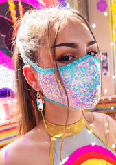 Cosmic Sequin Dust Mask