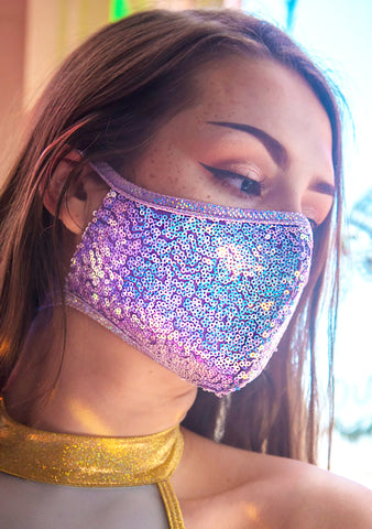 Lavender Dreams Sequin Dust Mask