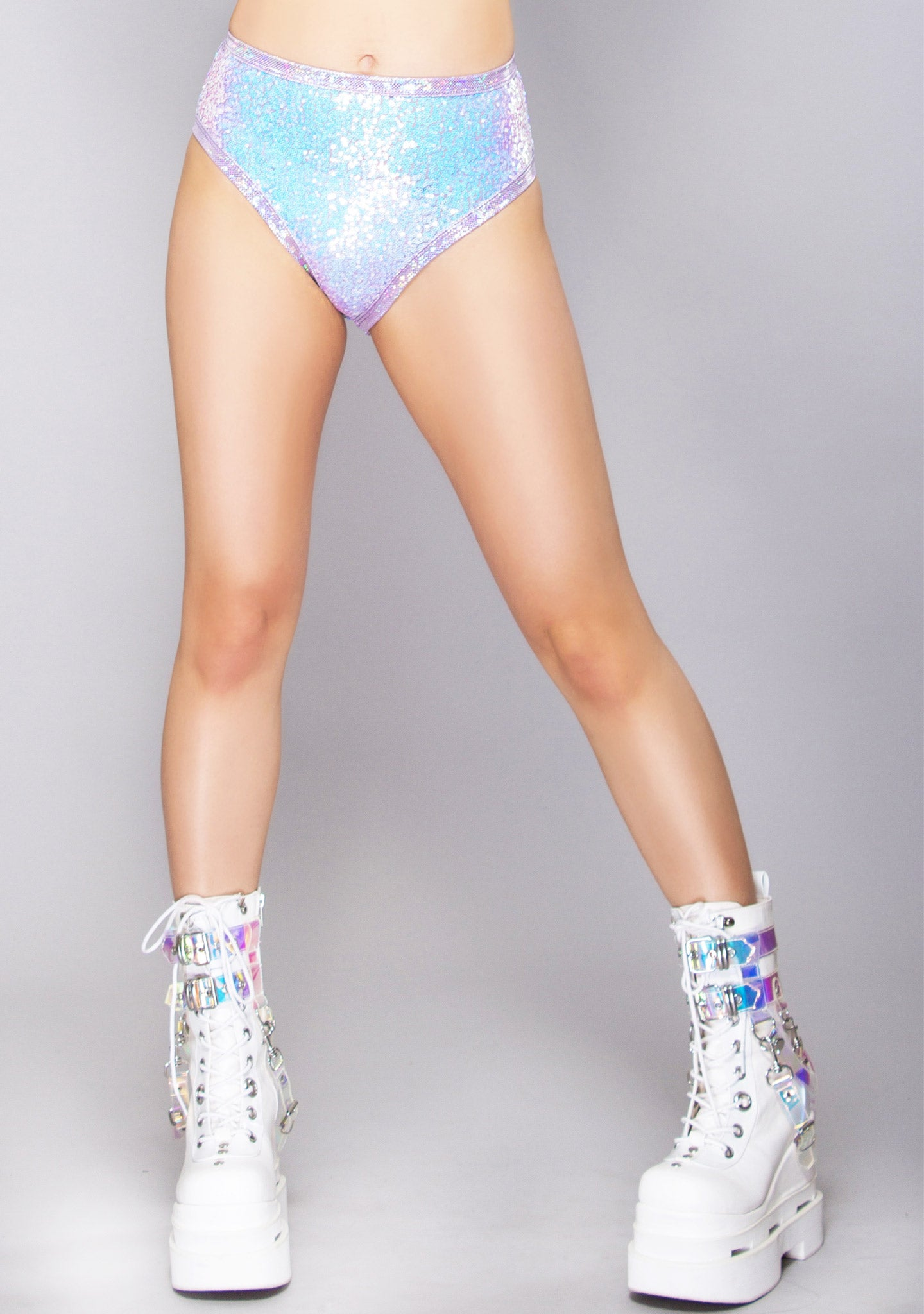 Lavender Dreams High Leg Sequin Short