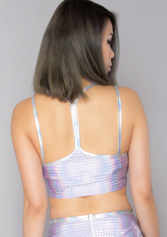 Lavender Pyramid Double Strap Tank Top
