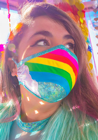 Rainbow Cloud Dust Mask