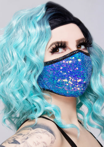 Water Opal Sequin Dust Mask