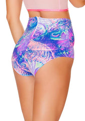 J Valentine High Waisted Shorts in Pink Spiral