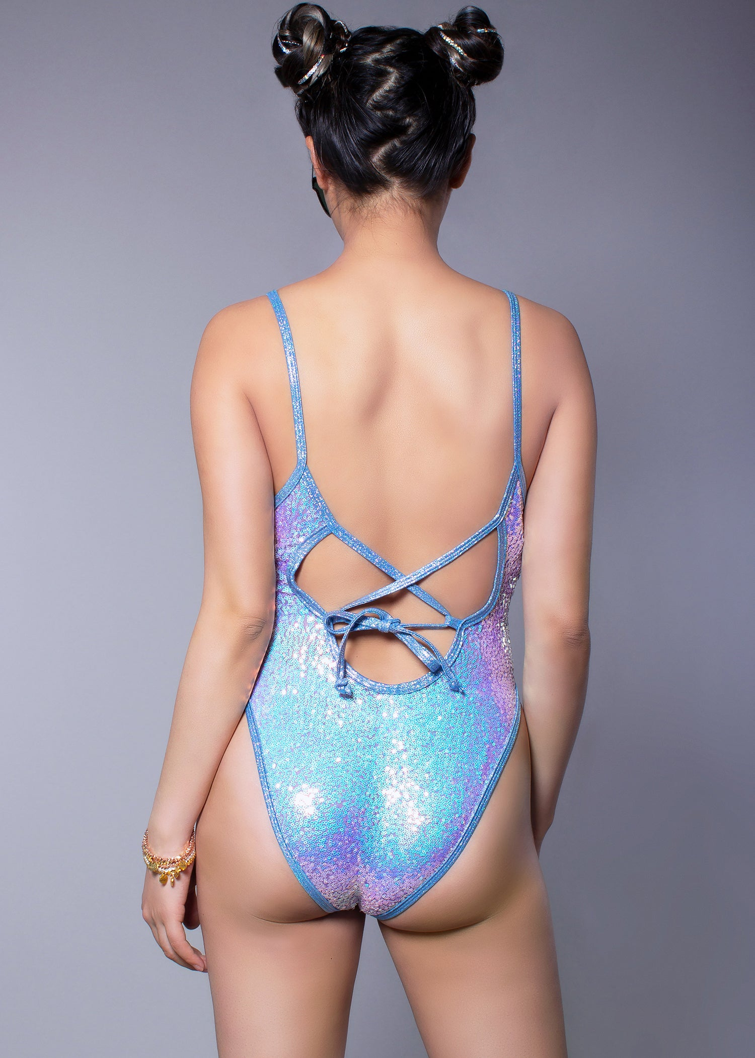 J Valentine Lavender Dreams Sequin Bodysuit