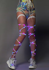 Light Up Leg Wraps in White/Pink