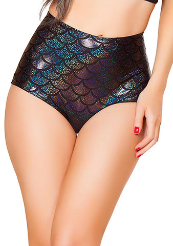 J Valentine Mermaid High Waisted Shorts in Black