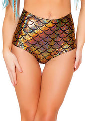 J Valentine Mermaid High Waisted Shorts in Gold