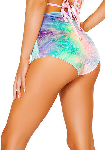 J Valentine High Waisted Shorts in Pastel Tie Dye