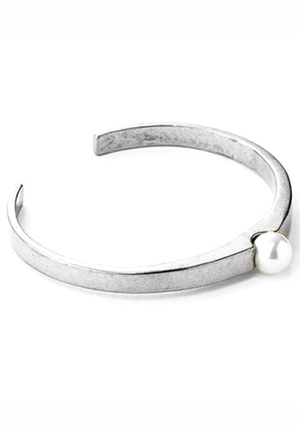 Jenny Bird Blanchett Cuff Bangle in Silver