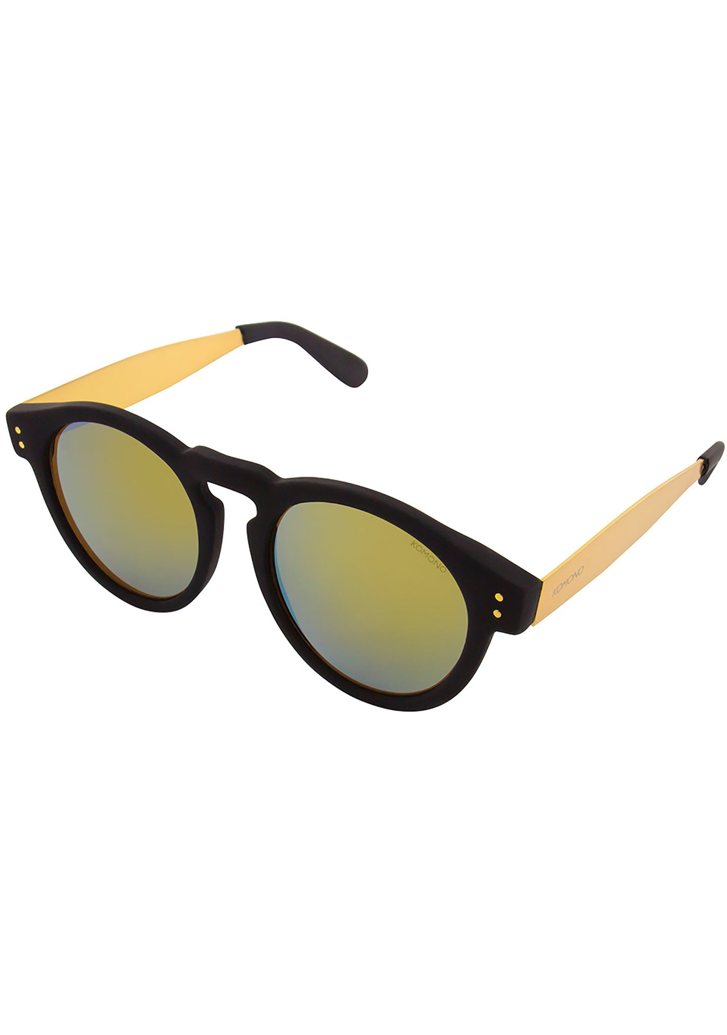 KOMONO Clement Metal Series Sunglasses in Black/Gold