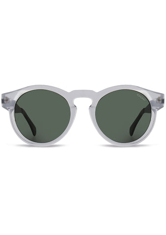 KOMONO Clement Metal Series Sunglasses in Clear/Silver
