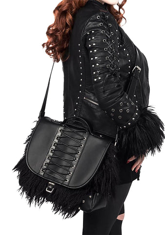 Loke Faux Fur Crossbody Bag