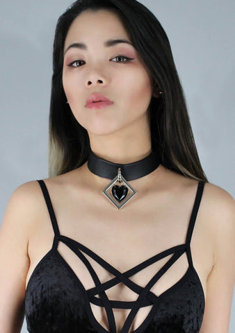 Vespertine Collar Choker in Onyx