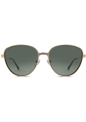 KOMONO Chris Sunglasses in White Gold