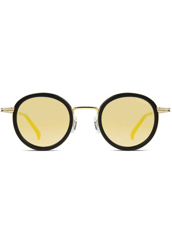 KOMONO CRAFTED Clovis Sunglasses in Black/Gold