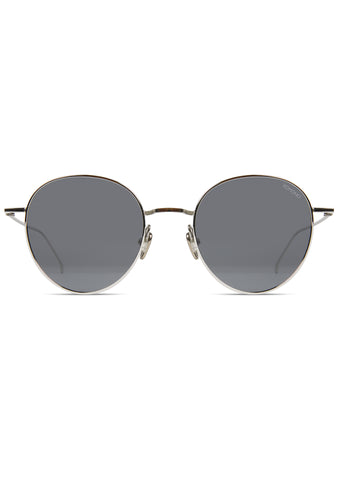 KOMONO CRAFTED Conrad Sunglasses in Silver/Smoke