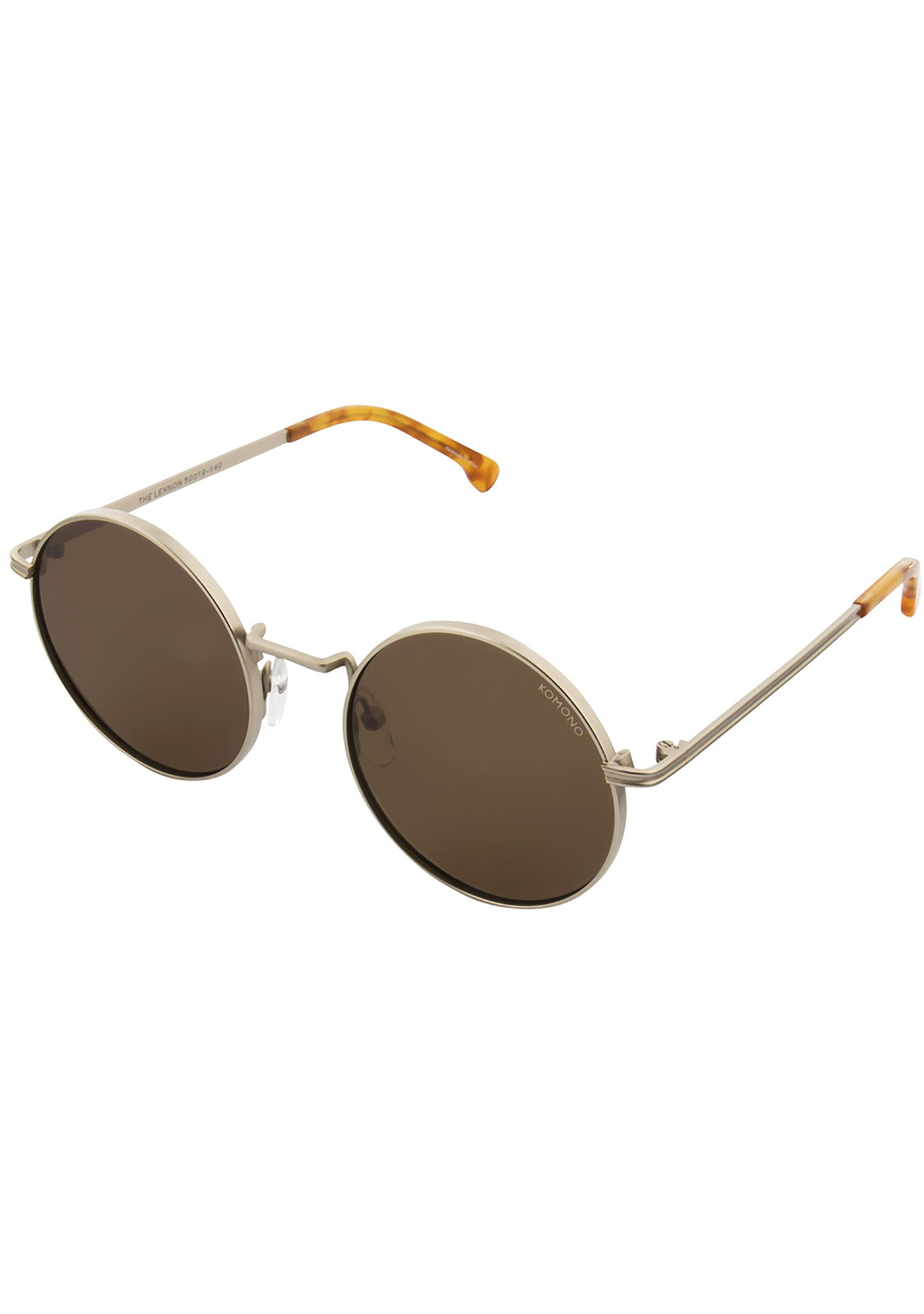 KOMONO CRAFTED Lennon Sunglasses in White Gold