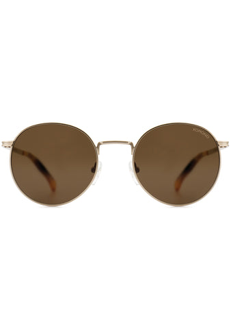 KOMONO CRAFTED Taylor Sunglasses in White/Gold