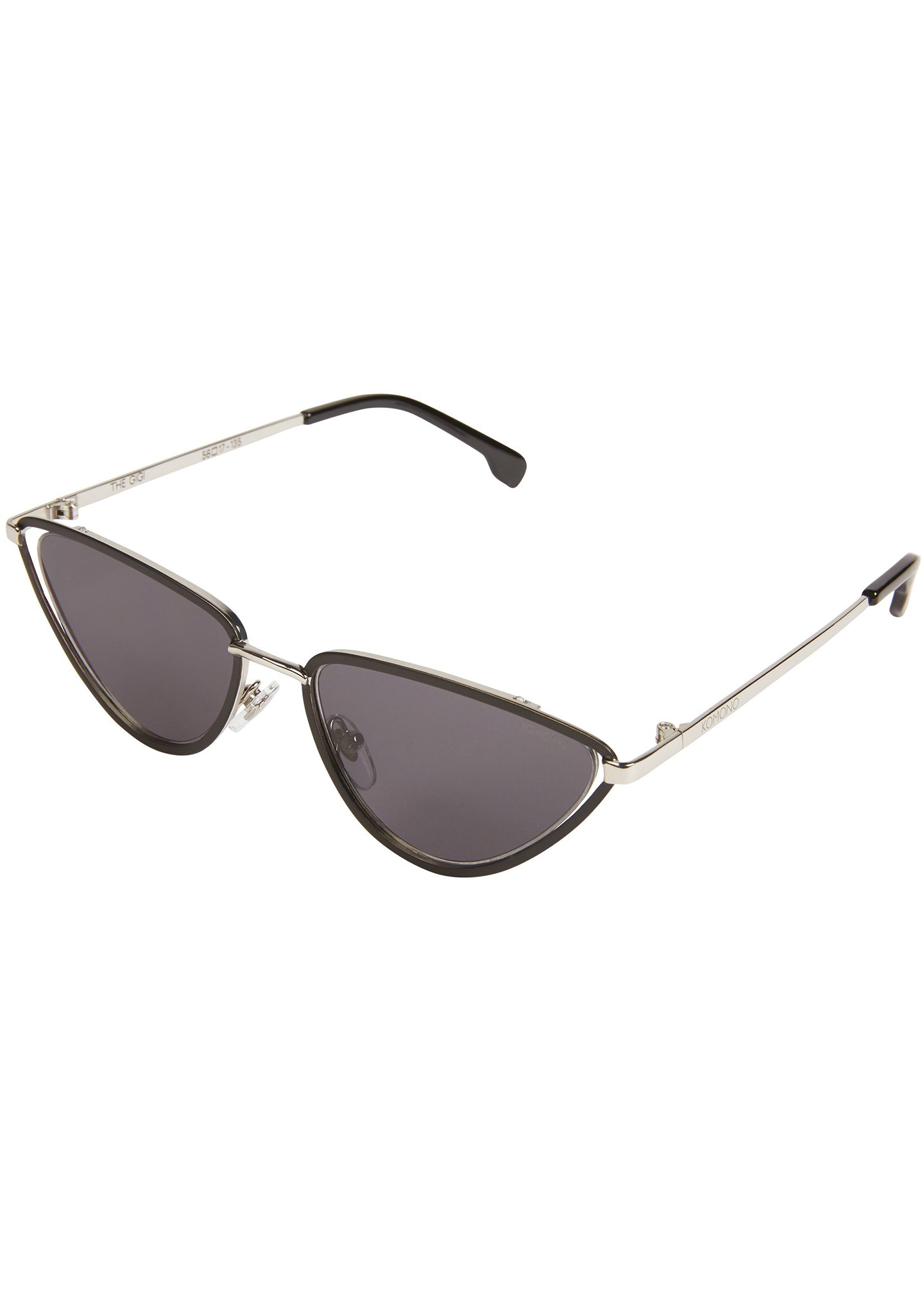 KOMONO Gigi Sunglasses in Black Silver