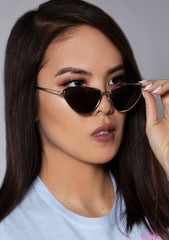 Gigi Sunglasses in Black Silver