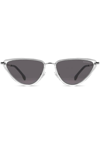 KOMONO Gigi Sunglasses in Silver/Smoke