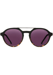KOMONO Harper Sunglasses in Matte Black/Tortoise
