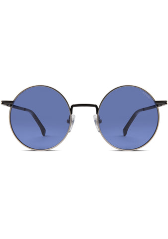 KOMONO CRAFTED Lennon Sunglasses in Marine