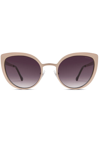 KOMONO Logan Sunglasses in Rose Gold Matte