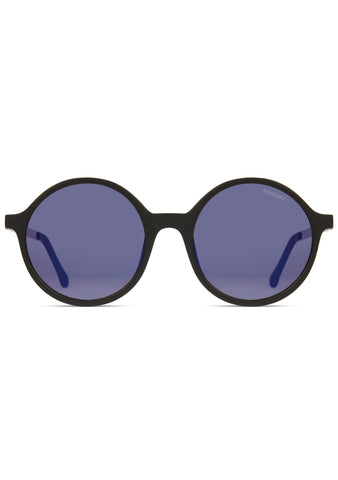 KOMONO Madison Sunglasses in Black/Silver