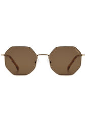 KOMONO CRAFTED Monroe Sunglasses in White/Gold