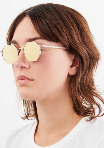 KOMONO CRAFTED Monroe Sunglasses in Rose Gold
