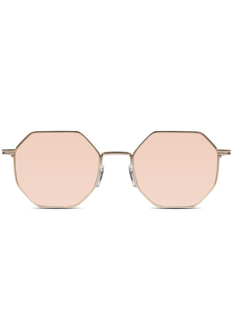 Crafted Monroe Sunglasses in Rose Gold