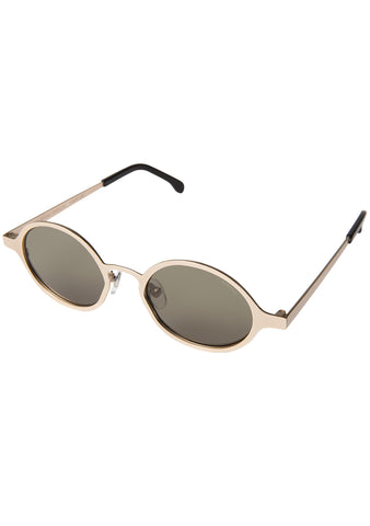 Quin Sunglasses in White Gold