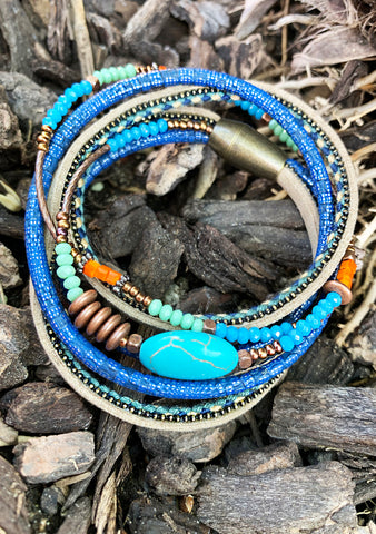 Cheyenne Beaded Double Wrap Bracelet