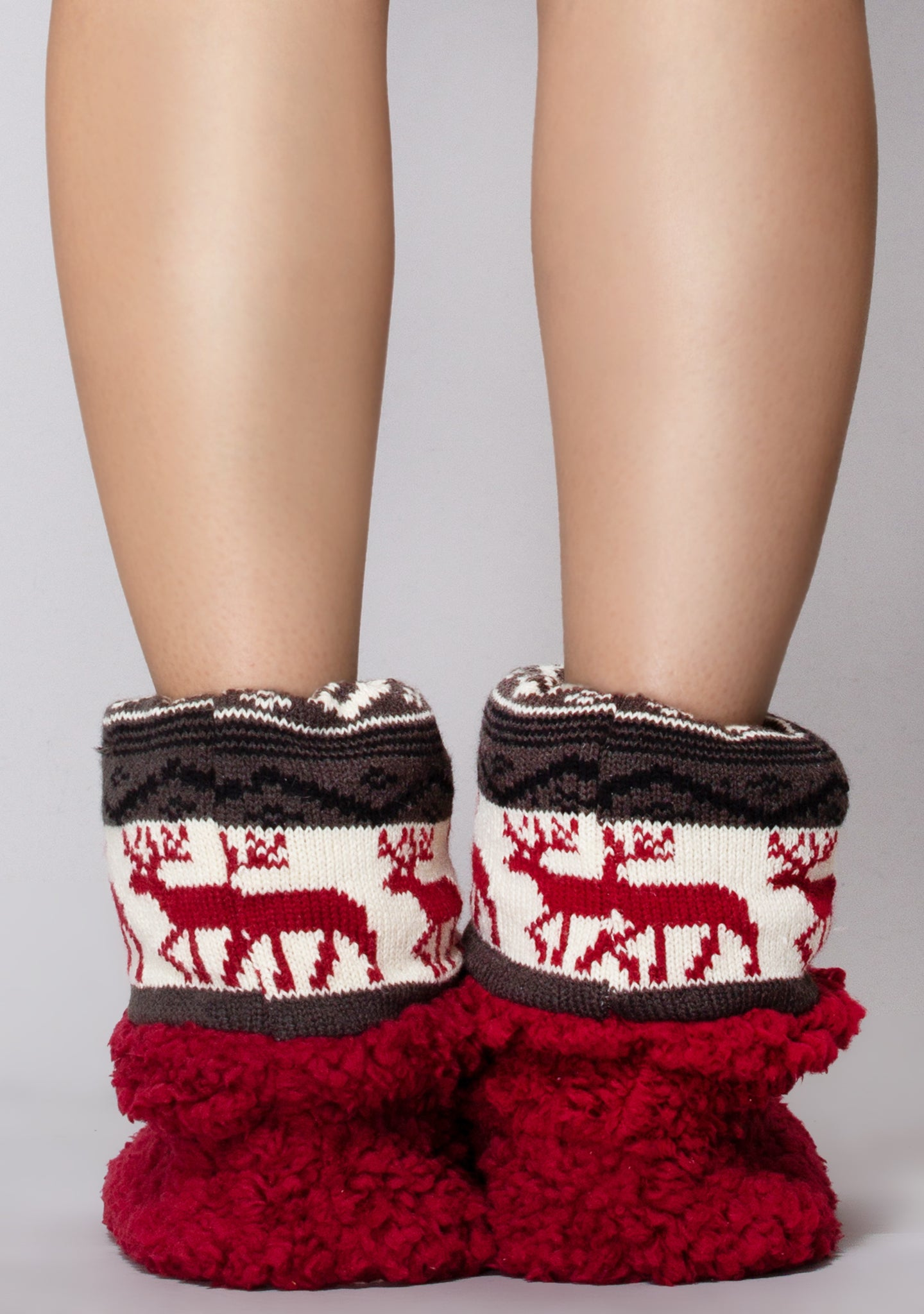 Deerly Beloved Bootie Slippers