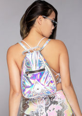 Illuminaughty Holographic Backpack