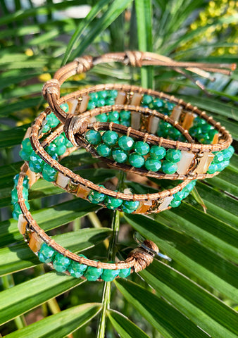 Lexington Beaded Double Wrap Bracelet